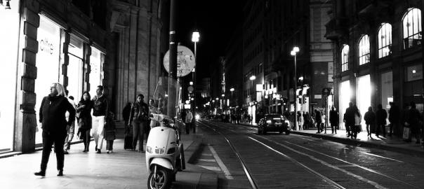 night scene shopfronts