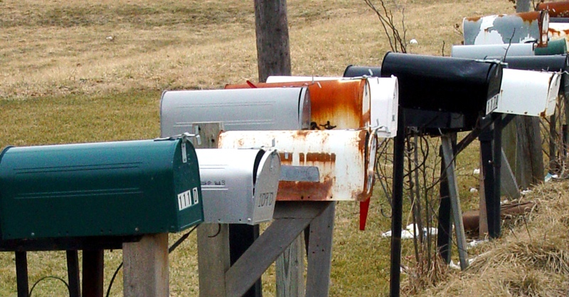 rural post mailboxes
